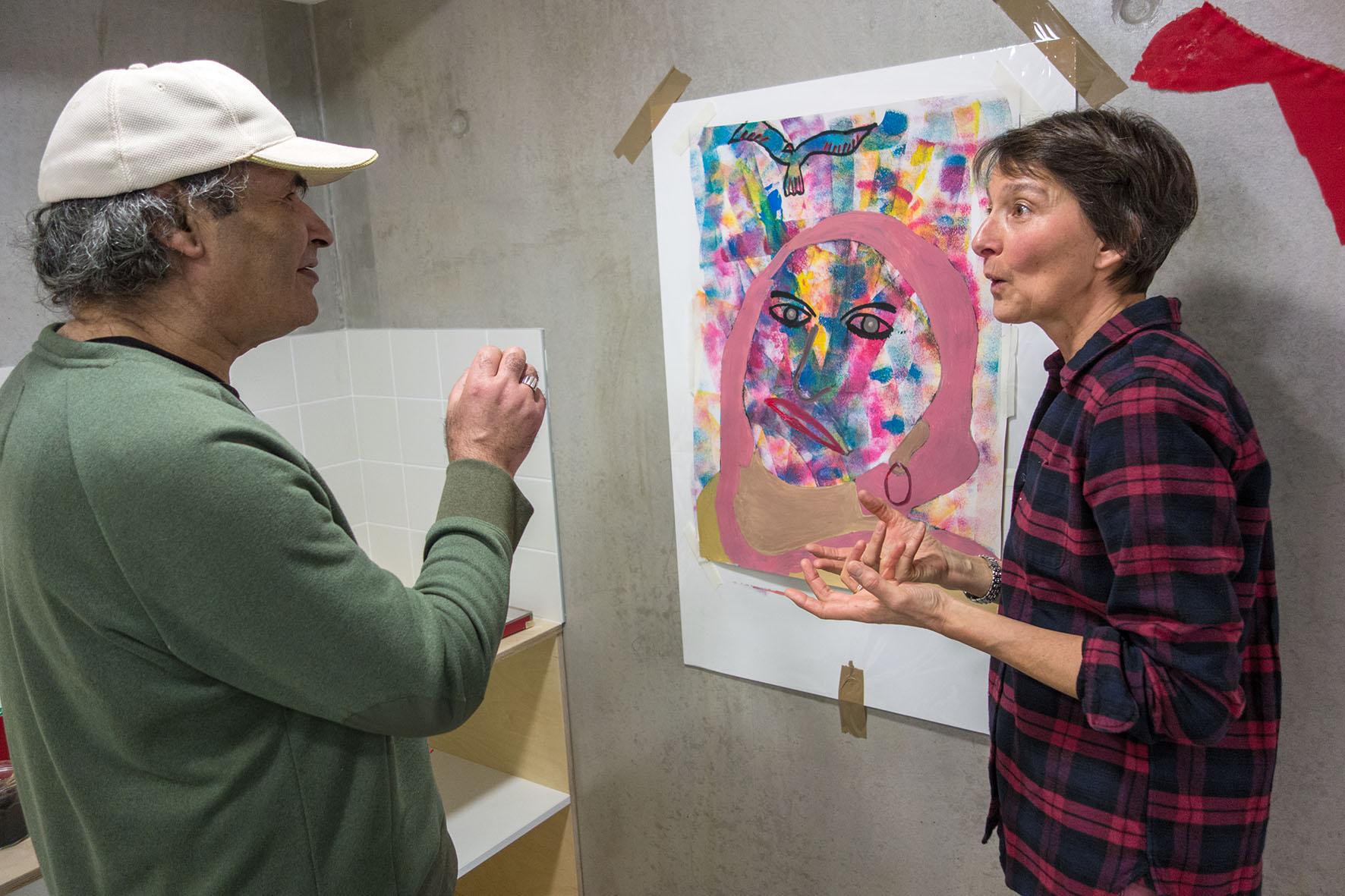 Photo Philippe MERCHEZ - Atelier d'art thérapie CHRS Cléberg ALYNEA
