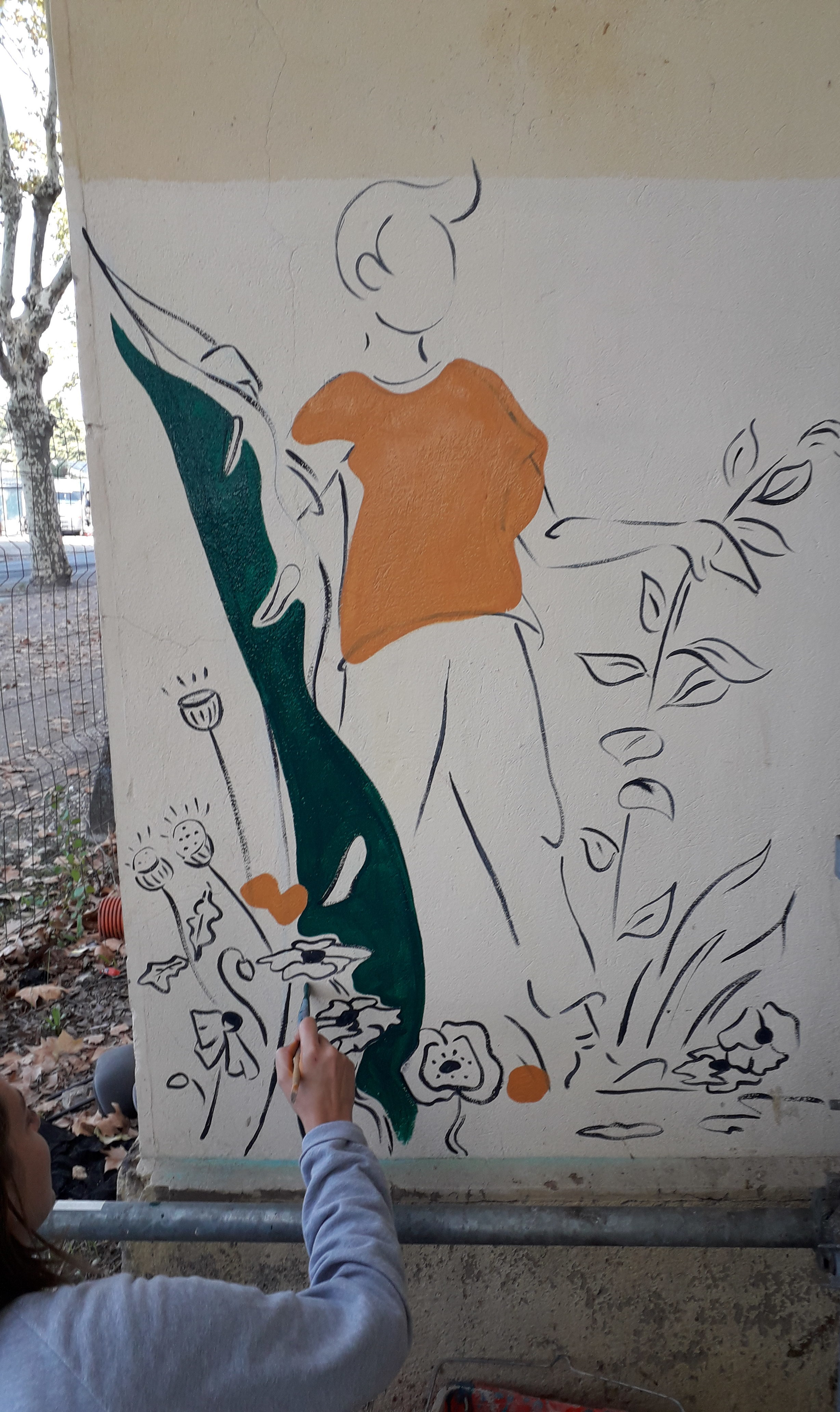photo Artistes investissent les murs de L autre soie-alynea